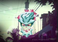 """""""#200 Misdreavus"""" Fan art de Pokemon, ilustración en acuarelas y tinta editado sobre una fotografía con Adobe Photoshop"""