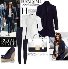 """NAVY & WHITE/Love Kate and her style!! Etcetera Spring 2013 - Navy for Spring, Royal Style"""" by etcetera-nyc ❤ liked on Polyvore"""