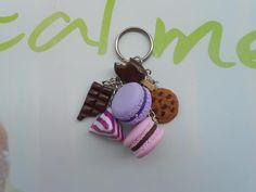 Porte clefs Macarons , Berlingots