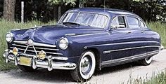 "1950 Hudson Commodore  The ""step-down"" design was so difficult to redesign that Hudson stuck with it from 1948 until 1954 it was heralded for it's safety and smooth highway ride, the occupants were actually surrounded by steel girders on all sides."