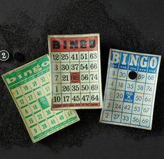 Vintage Bingo Card Trays
