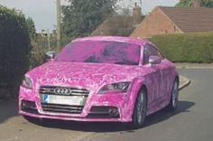 Homem acusado de violência doméstica tem seu carro pintado