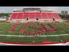 Time-lapse: Illinois State University students spell out I-S-U during the Welcome Week Spirit Photo shoot at Hancock Stadium on Saturday, August 15, 2015.