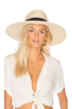Shop for Hat Attack Fine Braid Inset Continental Hat in Natural & Black at REVOLVE. Yacht Week, Boat Insurance, Face Jewels, All White Outfit, Beach Cover Ups, Boating Outfit, Beach Tops, What To Pack, Resort Wear