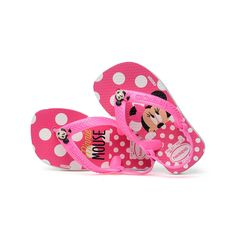 1f74c3355 Minnie Mouse Pink Flip Flops for Baby by Havaianas
