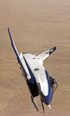 First flight of the X-31 was October 11, 1990. NASA Photo - X-31A front view banked in flight by MultiplyLeadership, via Flickr