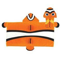 Clownfish Hooded Towel | hooded towel | fish hooded towel | toddler hooded towel