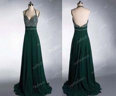 green bridesmaid dress, halter bridesmaid dresses, chiffon prom dress, green bridesmaid dress, long prom dress,  BE0136