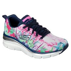 Skechers Womens Fashion Fit Spring Essential SneakerNavyMultiUS 8 M ***  Details can be found