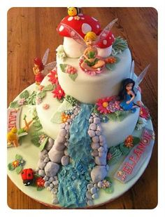 Tinkerbell - 15 Fabulous Disney Cakes I want this for meeeeeeeeee!!!