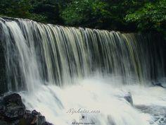 Crumlin Glen waterfall, County Antrim, Northern Ireland.
