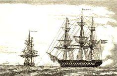 Flåden under den slesvigske krig Denmark History, Norse Mythology, Napoleonic Wars, Danish, Scandinavian, Times, Painting, Image, Ship