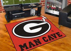 Collegiate University of Georgia Man Cave All-Star Area Rug