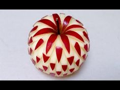 Simple Apple Carving Design - Int Lesson 2 - Mutita Thai Art Fruit and Vegetable Carving