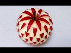 Simple Apple Carving Design - Int Lesson 2 - Mutita Thai Art Fruit and Vegetable Carving