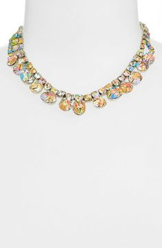 Love! Sparkly multicolored Swarovski crystal necklace.