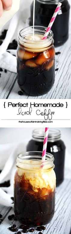 Simple, homemade cold brew coffee that will make you think it's a coffee house iced coffee treat!