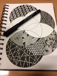 Zentangle in progress. Zentangle Drawings, Doodles Zentangles, Mandala Drawing, Doodle Drawings, Mandala Art, Drawing Art, Zantangle Art, Zen Art, Doodle Patterns
