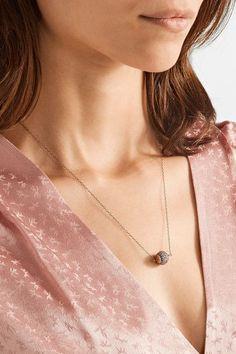 IAM by Ileana Makri - Rainbow Silver-tone Crystal Necklace - one size