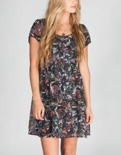 FULL TILT Floral Chiffon Babydoll Dress