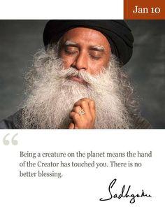 10th Jan quote from Sadhguru