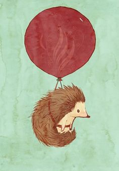 Oh the danger of a porcupine next to a balloon;). Some risks in life are worth it.