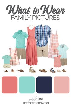 Large Family Pictures What To Wear, Spring Family Pictures, Spring Photos, Family Pics, Family Color Schemes, Picture Color Schemes, Beach Picture Outfits, Fall Family Photo Outfits, Macy Leigh