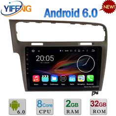 """10.1"""" Android 6.0 Octa Core 64-Bit 2GB RAM 32GB ROM Car DVD Player Radio Stereo GPS For Volkswagen VW Golf 7 MK7 VII 2012-2015 #Affiliate"""