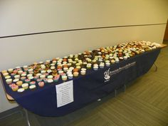 The Manchester University College of Pharmacy got a table filled with cupcakes to celebrate American Pharmacists Month! #Jealous