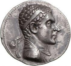 Tetradracma - argento - Battriana (190-180 a.C.) - busto di Agatocle vs.dx. - i ritratti d'età ellenistica sono capolavori assoluti - Münzkabinett Berlin