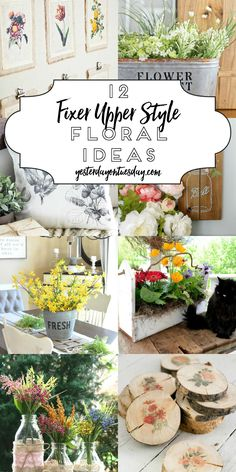 Dozen Fixer Upper Style Floral Ideas Modern Farmhouse Floral Decor: Lovely ways to add some fixer upper style charm to your home decor with flowers. Country Farmhouse Decor, Farmhouse Style Decorating, Decorating Your Home, Diy Home Decor, Modern Farmhouse, Farmhouse Ideas, Decorating Ideas, Farmhouse Design, Modern Rustic