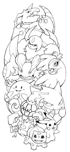 The finalized Pokemon tattoo design by H0lyHandgrenade as mentioned on the podcast. Pokémon - Swampert - Nidoking - Hawlucha - Chansey - Chandelure - Gengar - Absol - Krabby - Pikachu - Bulbasaur