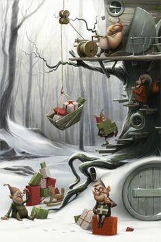 Christmas fairy tale by Anna Kulakovskaja, via Behance