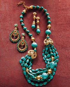 Turquoise Jewelry by Jose & Maria Barrera at Neiman Marcus.