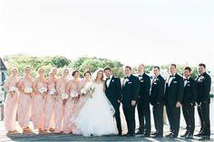 blush floral bridesmaids