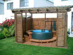 Softub na terase či v zahradě #virivky #mobilnivirivky http://www.softub-spa.cz/fotogalerie-virivky/album/350