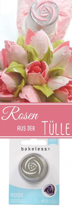 Spritzen Sie mit dieser Tülle kinderleicht Rosen für Ihre Torten oder Cupcakes. #Tülle