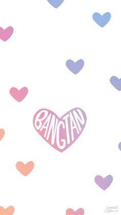 BTS Bangtan heart wallpaper lockscreen kpop