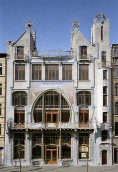 Art Nouveau Schteinerschool. Antwerp, Belgium.