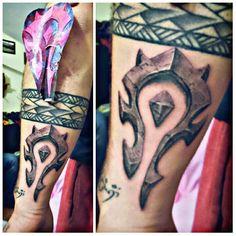 For the HORDE!!! ✌ #worldofwarcraft #forthehorde #hordetattoo #dövme #dövmesanatı #tattoo #tattooart #ink