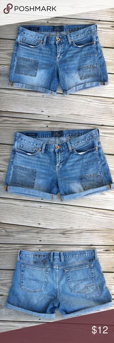 Lucky Brand Denim Shorts Lucky Brand Laguna Shorts with metal studs and patches. Gently loved! Lucky Brand Shorts Jean Shorts