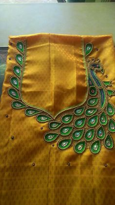 Sum other works Peacock Blouse Designs, Peacock Embroidery Designs, Best Blouse Designs, Wedding Saree Blouse Designs, Simple Blouse Designs, Blouse Neck Designs, Machine Embroidery Designs, Maggam Work Designs, Designer Blouse Patterns
