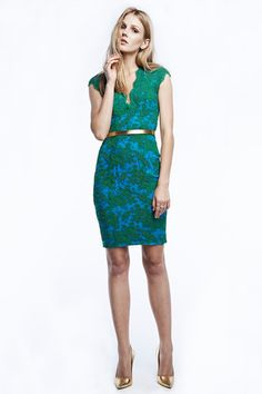 Love this. Bold colors and great patterning. Embellishments. Reem Acra Resort 2015 Collection