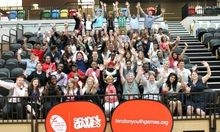 Marina Harden, volunteer and team leader, and the team at London Youth Games