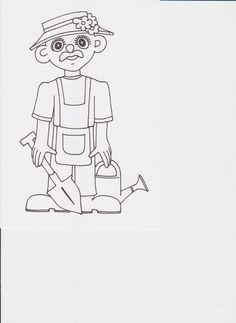 zahradník omalovánka Bart Simpson, Fictional Characters, Easter Activities, Projects, Fantasy Characters