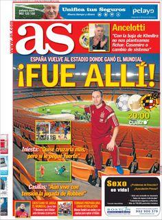 Los Titulares y Portadas de Noticias Destacadas Españolas del 19 de Noviembre de 2013 del Diario AS ¿Que le pareció esta Portada de este Diario Español?