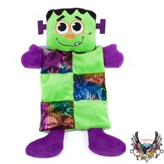 This monster knows how to rock! Bret Michaels Pets Rock™ Bat/Frankenstein Squeaker Mat Dog Toy - PetSmart $7.99