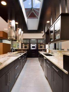 Kitchen Skylight! Kitchen Countertops, Dark Kitchen Cabinets, Kitchen  Tiles, Kitchen Appliances,