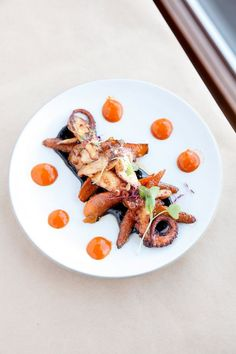 Downtown Napa's sizzling restaurant scene  Seared octopus with roasted baby carrots, mojo picon and a black garlic aioli at ZuZu. Photo: Sarah Rice, Special To The Chronicle