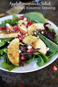 Apple Pomegranate Salad with Honey Balsamic Dressing @Alyssa {The Recipe Critic}